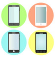 set of flat smartphone icons vector image