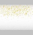 golden confetti on transparent background vector image