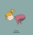 kid yoga pose crow vector image