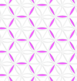 3D colored pink hexagonal grid vector image