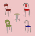 a group of detached modern design chairs on a vector image vector image