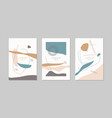 a set posters a composition with abstract vector image vector image