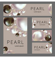 abstract composition pearl shine a4 brochure vector image