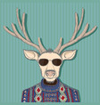 animal deer in hipster style hand drawn image vector image