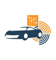 audio car system equalizer logo template isolated