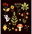 Autumn Natural Wood Elements in Flat Style vector image