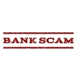 Bank Scam Watermark Stamp vector image vector image
