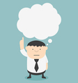 Business fat with speech bubbles vector image vector image