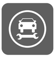 Car Repair Flat Squared Icon vector image vector image