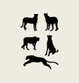 Cheetah Silhouettes vector image