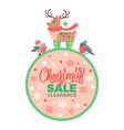 christmas sale clearance on vector image