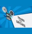 cinema movie video clip vector image