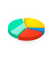 colourful pie diagram divided in four different vector image vector image