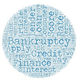 Consumer Loan After Bankruptcy These Steps Could vector image vector image