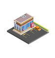 convenience store isometric vector image vector image