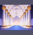 corridor with columns and arches in palace vector image