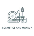 cosmetics and makeup line icon linear vector image vector image