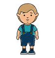 cute boy avatar character vector image vector image