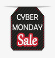 cyber monday black label or price tag on white bac vector image