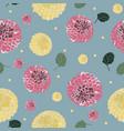 dahlia flower pattern vector image vector image