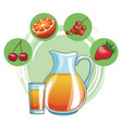 delicious and fresh fruit vector image