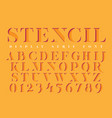 display stencil serif antique font vector image