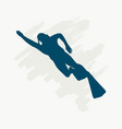 diving sport concept vector image vector image