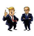Donald Trump and Vladimir Putin vector image vector image