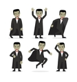 Dracula vampire cartoon character vector image