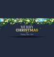 fir branches with neon lights and snowflakes vector image vector image