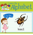 Flashcard letter I is for insect vector image vector image