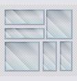 glass plates set acrylic frames banners vector image vector image