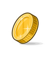 gold coin sign on white background vector image vector image