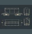 grain hopper wagon blueprints vector image vector image