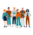 group diverse young middle-aged people vector image vector image