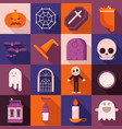 halloween long shadow icons vector image