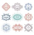 Hipster modern emblems vector image vector image