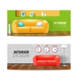 Interior Banners Set vector image vector image