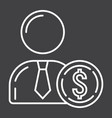 investor line icon business and finance vector image vector image