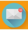 Mail Icon With Notification vector image vector image
