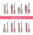 mascara set vector image vector image