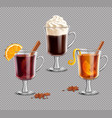 mulled wine grog irish coffee vector image