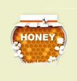 natural floral honey jar vector image vector image