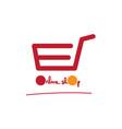 online shop logo vector image vector image