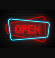 open neon sign light vector image
