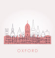outline oxford skyline with landmarks vector image vector image