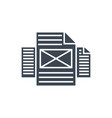 pages glyph icon vector image vector image