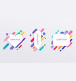 paper card and abstract colorful shapes neon vector image vector image