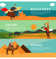 people on summer vacation horizontal banners vector image
