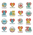 Pet badge cat and dog veterinary set vector image vector image